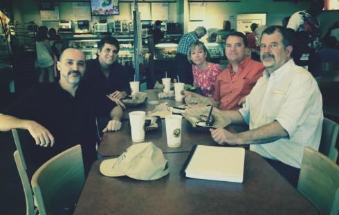 Jorge Proctor, Agustin Garcia-Barneche, Cori Sedwick Downing (Me), Dan Sedwick, and Glenn Stephen Murray Fantom,