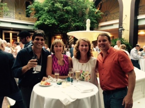 Agustin Garcia, Cori Sedwick Downing, Lynn and Dan Sedwick at cocktail reception for IAPN