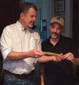 Glenn Stephen Murray Fantom and Jorge Proctor with gold bar