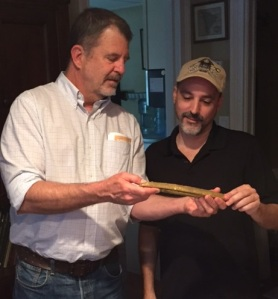 Glenn Stephen Murray Fantom and Jorge Proctor with gold bar