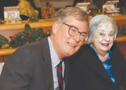 Tom Gray with his mother, Anne Gray