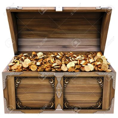 12769692-old-wooden-chest-with-gold-coins-isolated-on-a-white-background--Stock-Photo